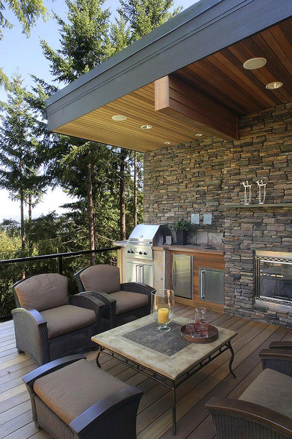 Outdoor living spaces contemporary patio other metro for Contemporary outdoor living spaces