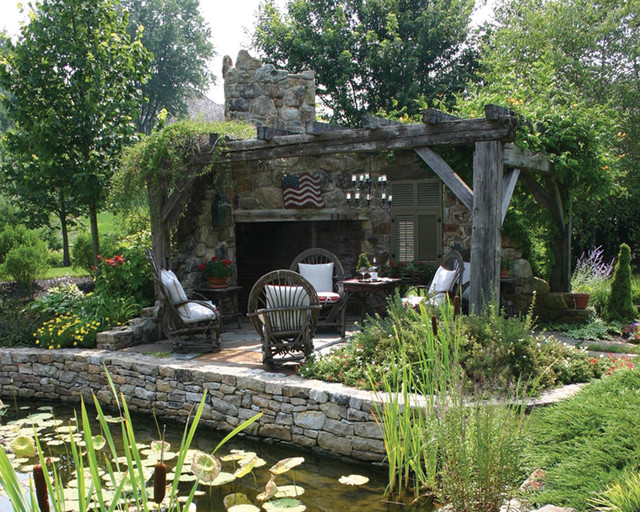 Outdoor Living Spaces - Traditional - Patio - Philadelphia ... on Houzz Outdoor Living Spaces id=43397