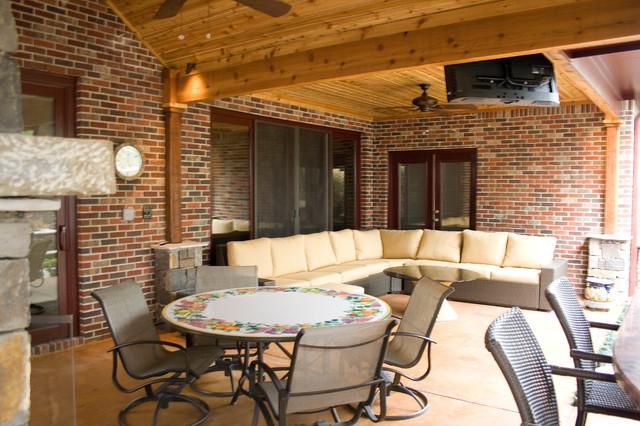 Outdoor Living Spaces Rustic Patio