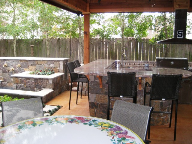 Outdoor Living Spaces - Rustic - Patio - houston - by Wood ... on Houzz Outdoor Living Spaces id=17576