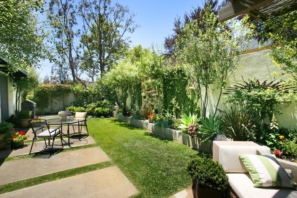 Elegant patio photo in Orange County with no cover