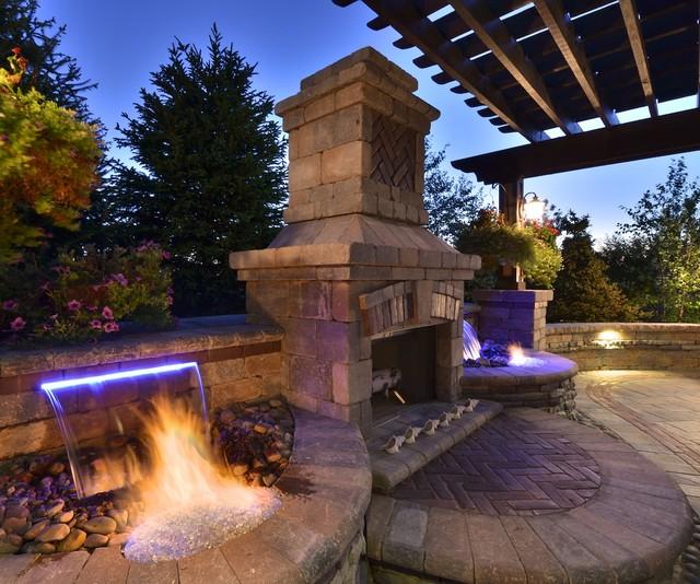 Outdoor Living with Three Season Room contemporary-patio