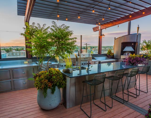 Outdoor Loft And Kitchen Design Modern Patio Other By Shawn Rivett Designs