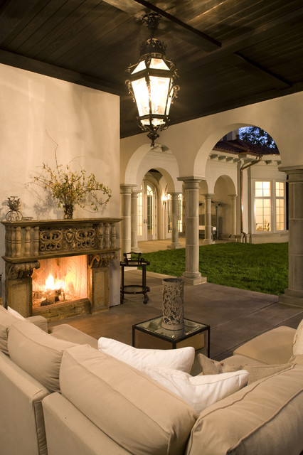 Outdoor Loggia Mediterranean Patio Minneapolis By