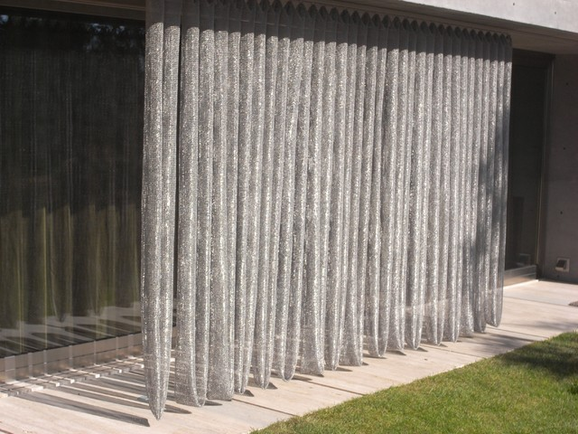 Outdoor Mesh Curtains Contemporary Patio Boston By Whiting Davis