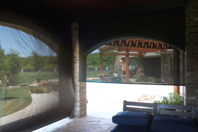 Outdoor Motorized Shades Patio Dallas By Trinity