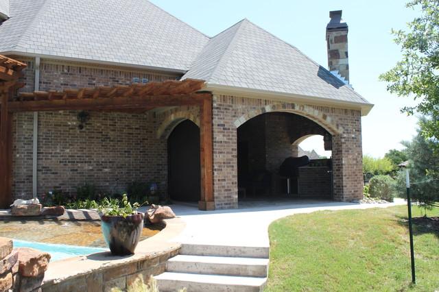 Outdoor Motorized Shades Traditional Patio Dallas By Trinity Uptown Custom Window Treatments