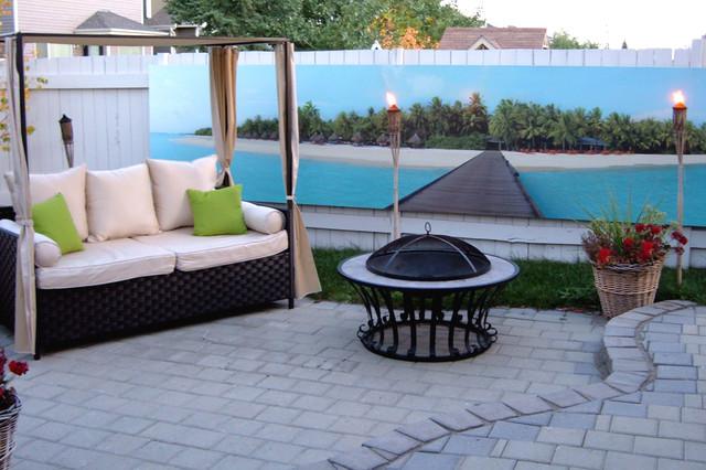 Outdoor murals patio edmonton by murals your way for Outdoor wall coverings garden