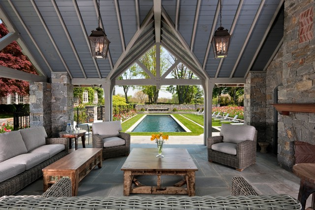 Outdoor oasis for Garden oases pool entrance