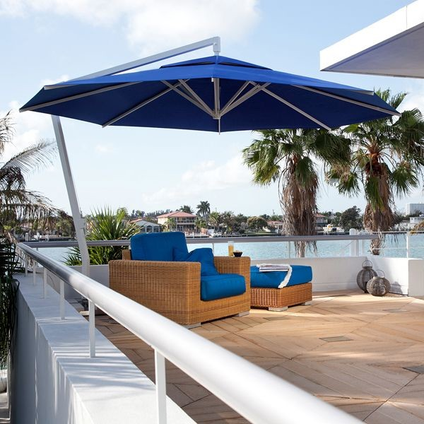 outdoor offset patio umbrella - modern - patio - chicago -home Best Patio Umbrella