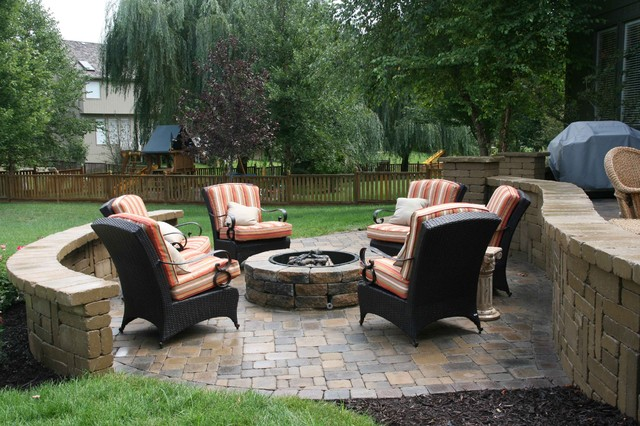 Outdoor Patio, Firepit, Overhead Stucture traditional-patio