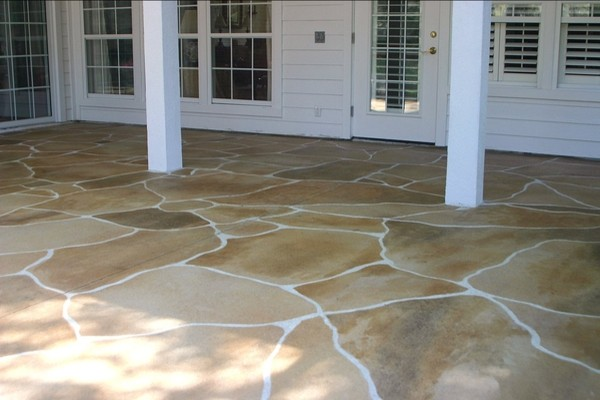 Outdoor Patio   LastiSeal Concrete Stain U0026 Sealer Modern Patio
