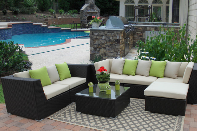 houzz outdoor furniture. Outdoor Patio Paradise-Eurolux Verano Wicker Sofa Set Houzz Special $2250 Traditional-patio Furniture