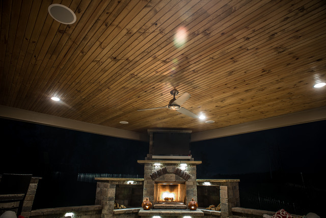 Picturesque Pergolas, Pavilions, and Patio Roofing traditional-patio