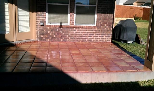Outdoor Patio - Saltillo Tile mediterranean-patio
