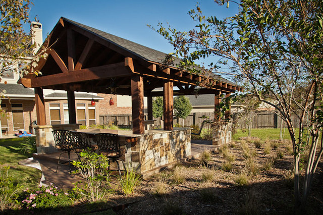Wonderful Outdoor Patio Structure For Entertaining In Katy, TX Traditional Patio