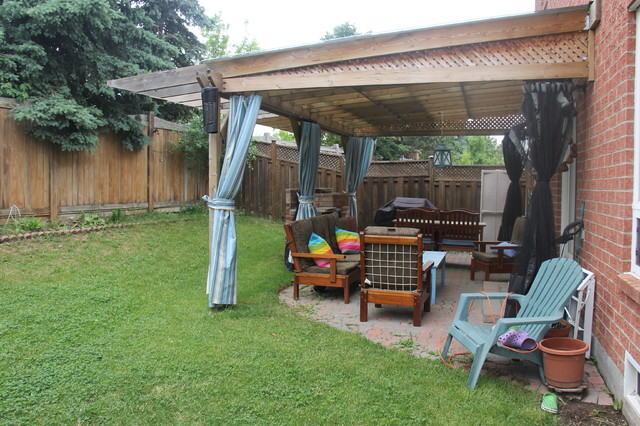 Outdoor Pergola Curtains Patio Toronto By Stage With