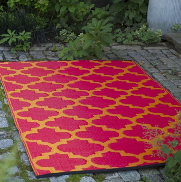 outdoor plastic rugs - modern - patio - chicago - by home infatuation
