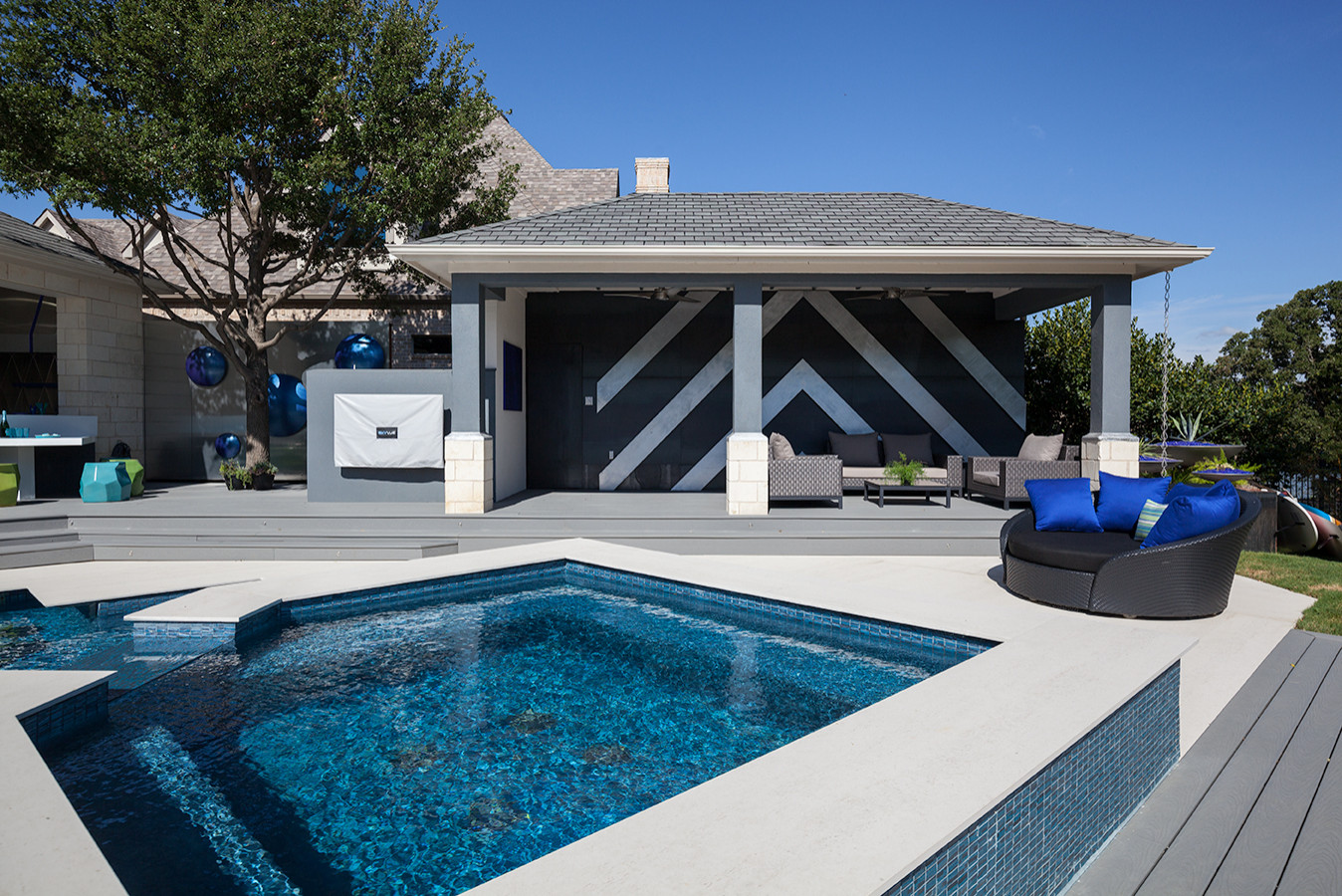 Outdoor Pool and Entertainment Area
