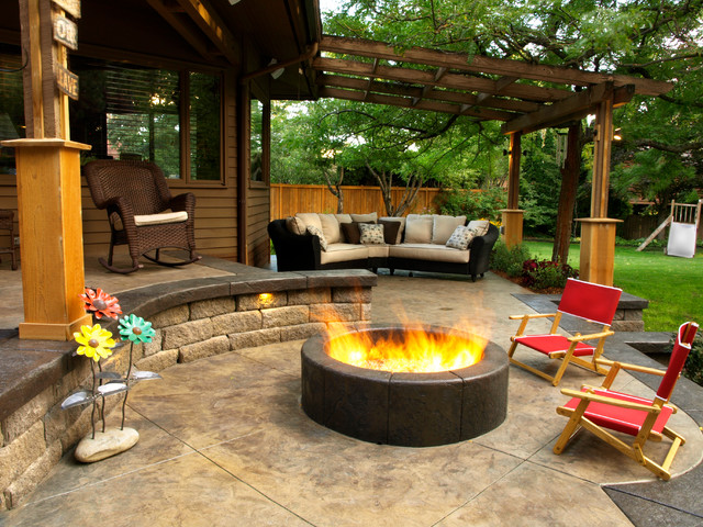 Outdoor rooms contemporary patio seattle by land expressions llc - Foyer de jardin exterieur ...