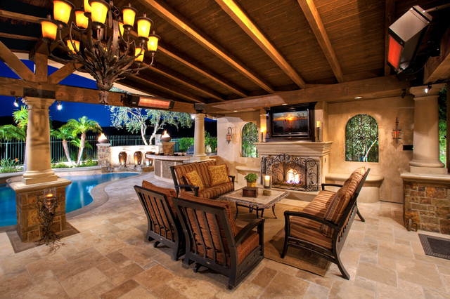 Outdoor rooms patio covers for Outdoor room with fireplace