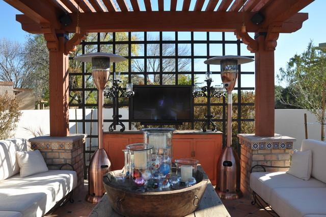 Outdoor Seating Area/Arbor Structure mediterranean-patio