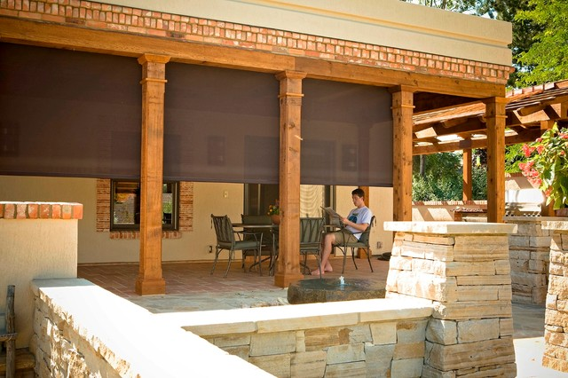 Outdoor Shades for Patios Screen Shades Mediterranean Patio