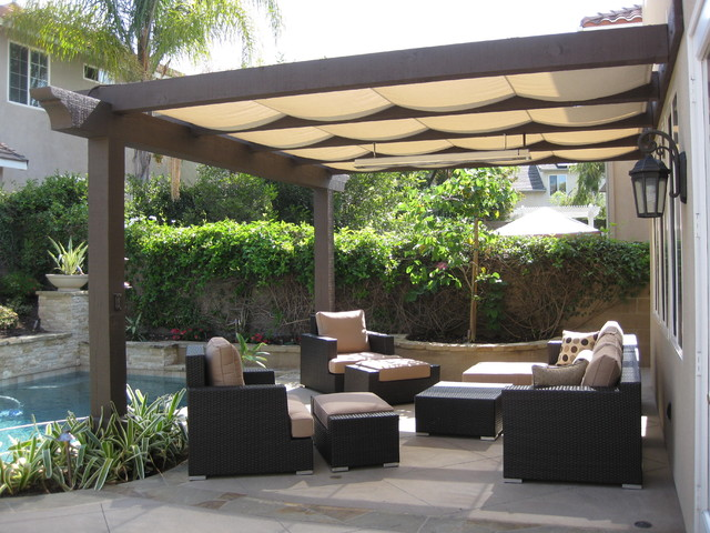 outdoor shading draperies decor contemporary patio