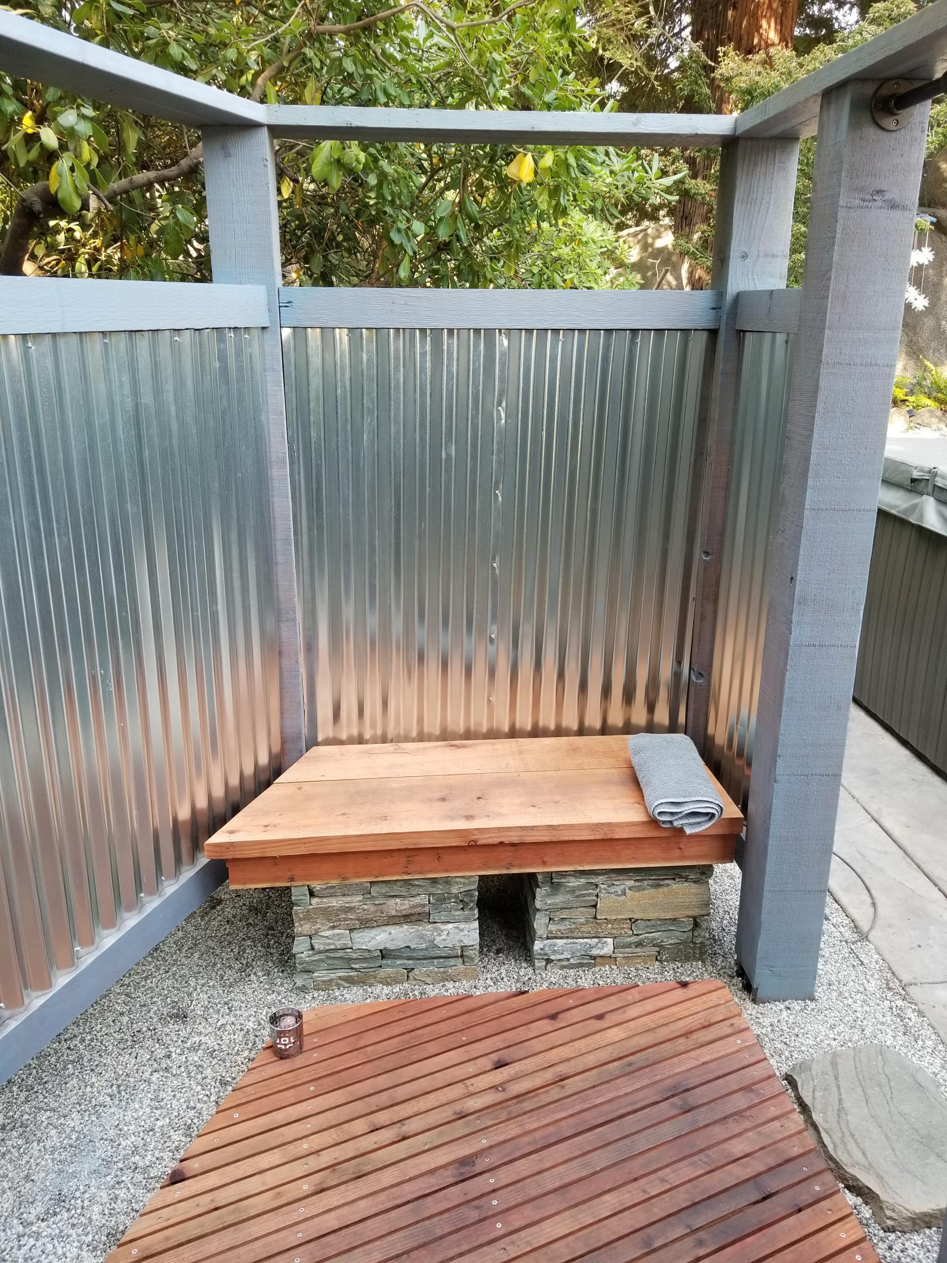 Outdoor Shower Interior