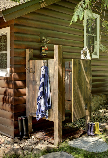Outdoor Shower rustic-patio
