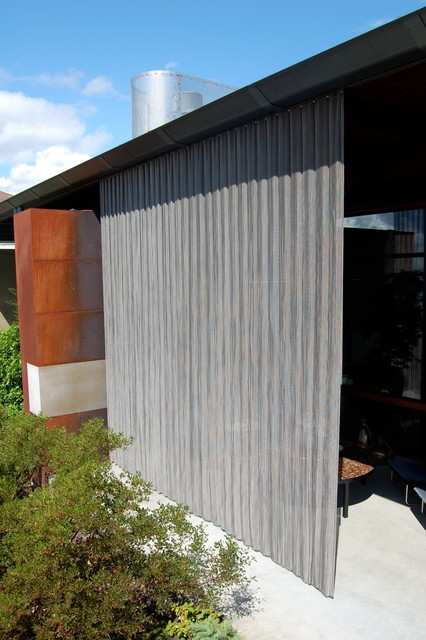 Outdoor stainless steel curtain modern patio