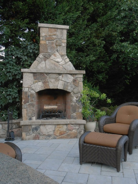 Fireplaces traditional-patio