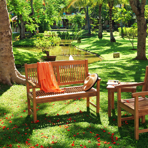 Outdoor Teak Bench (Kuta 4-Ft Bench)