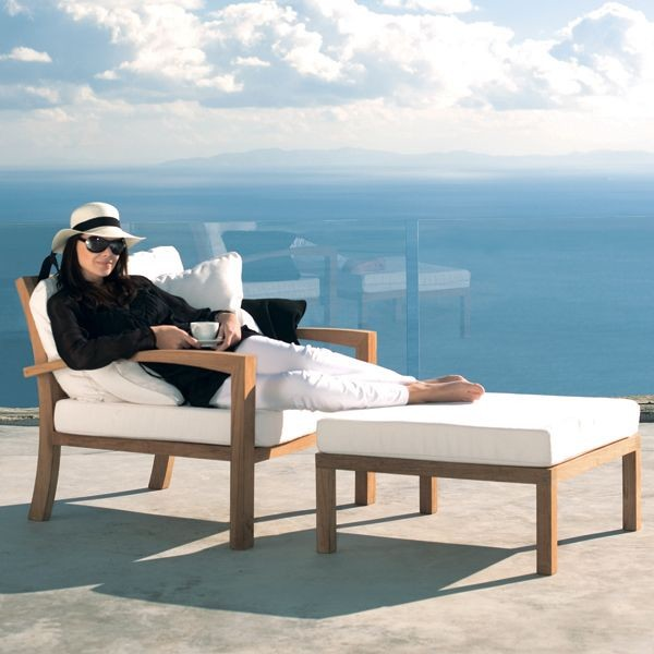 Outdoor Teak Lounge Chaircontemporary Patio Chicago