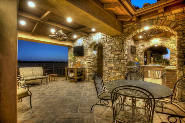 Outdoor Tuscan Oasis Mediterranean Patio Other By