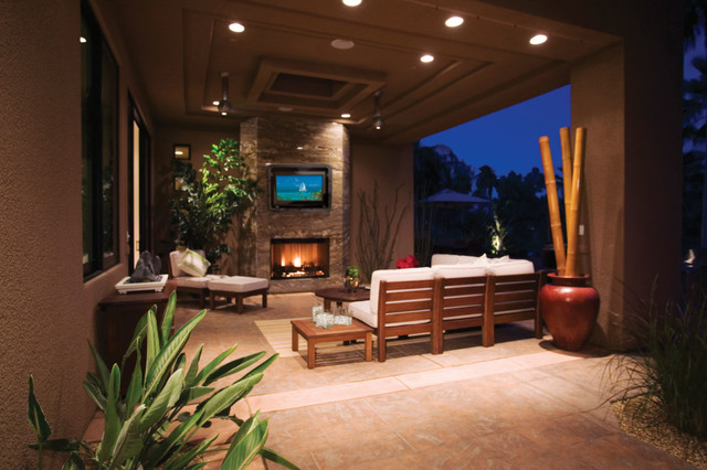 Outdoor TV Enclosure for your outdoor entertainment area - rustic