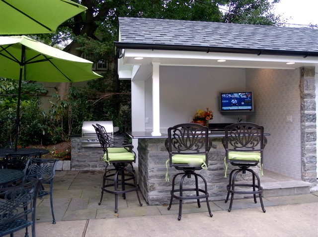Outdoor tv installation eclectic patio philadelphia by world wide stereo Home garden tv
