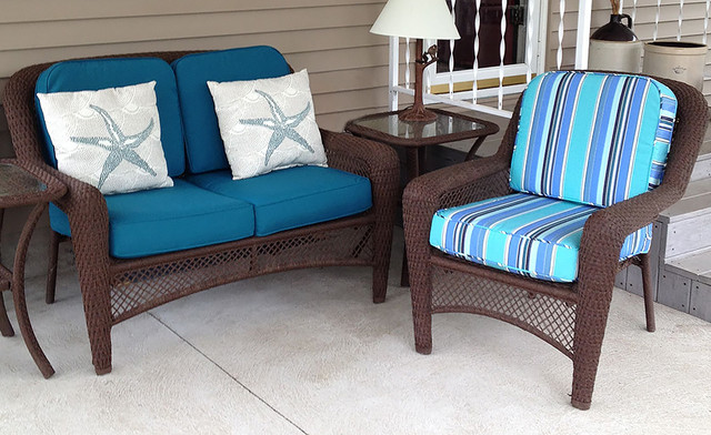 Beach Style Outdoor Cushions : Outdoor Wicker Cushions - Beach Style - Patio - Other - by Cushion Source