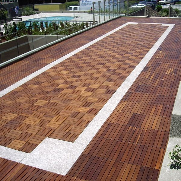 Outdoor Wood Deck Tile Hardwood Flooring Chicago By Home