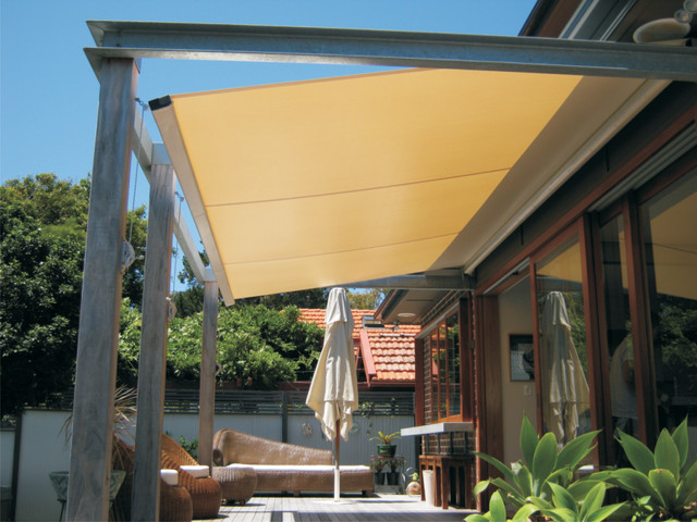 Outrigger Retracting Awnings Contemporary Patio