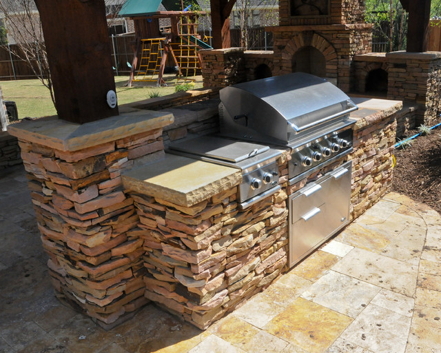 Overhead Structure/Grilling Station/Fireplace Traditional Patio