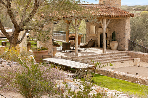 Rustic Landscape by Scottsdale Architects & Designers Don Ziebell