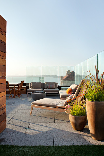 Pac Heights Penthouse Modern Patio San Francisco