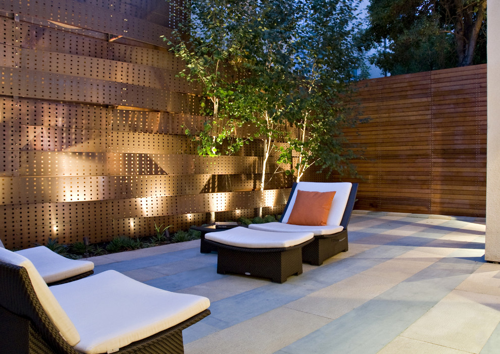 Example of a small trendy courtyard patio design in San Francisco