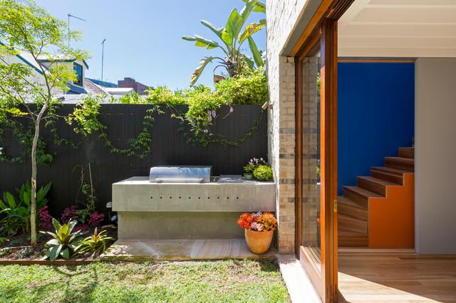 Contemporary Courtyard Covering : Paddington Courtyard House - Contemporary - Patio - sydney - by ...