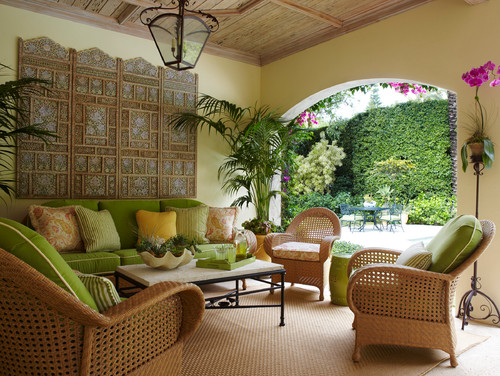 Landscaping a florida lanai Beach patio decor ideas
