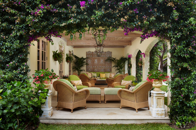 Amazing Palm Beach Loggia Tropical Patio
