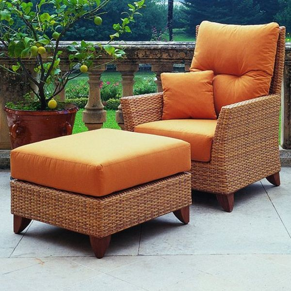 Palm beach outdoor lounge chair contemporary patio for Modern patio chairs