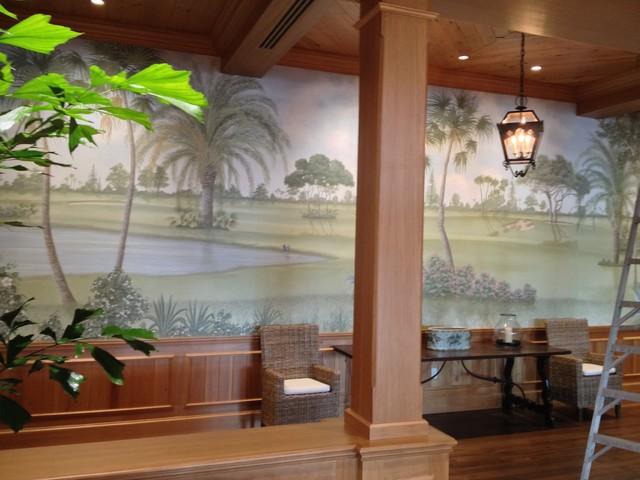 Palm Beach Wallpaper Installation patio
