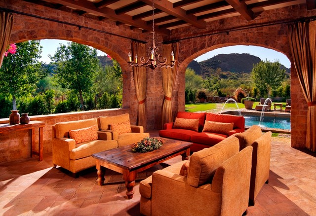 Paradise valley tuscan style - Tuscan style backyard ideas ...